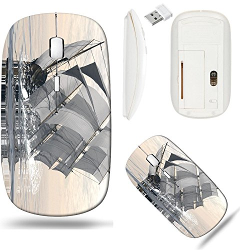Liili Wireless Mouse White Base Travel 2.4G Wireless Mice with USB Receiver, Click with 1000 DPI for notebook, pc, laptop, computer, mac book ID: 28263261 Beautiful detailed old merchant ship sinking -