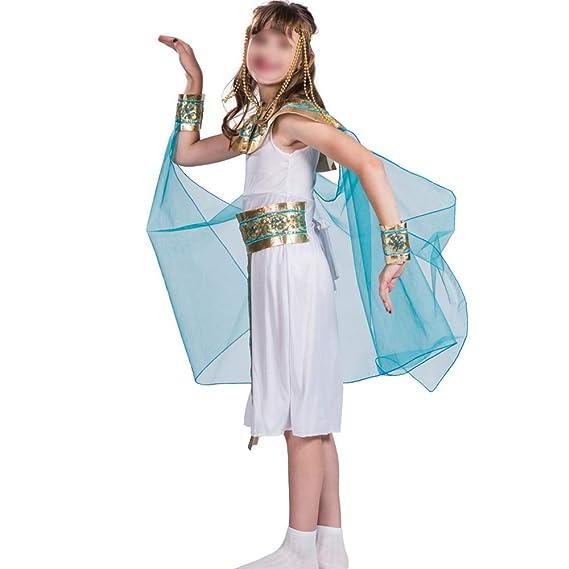 HUOFEIKE Disfraz de Reina de Egipto para niña, Cosplay de ...