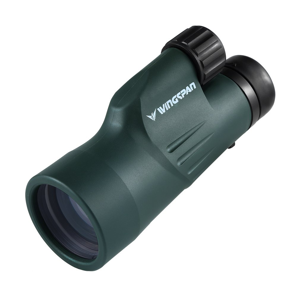 Wingspan Optics Adventure 10X50 Wide View Monocular. New Cutting-Edge Optical Structure Puts Unrivaled Brightness and Clarity in Your Hands. For Bird Watching and Wildlife Viewing. Waterproof. by Wingspan Optics