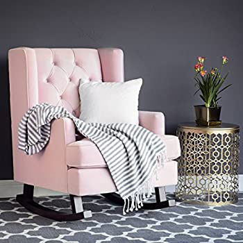 Amazon Com Novogratz Vintage Tufted Armchair Pink