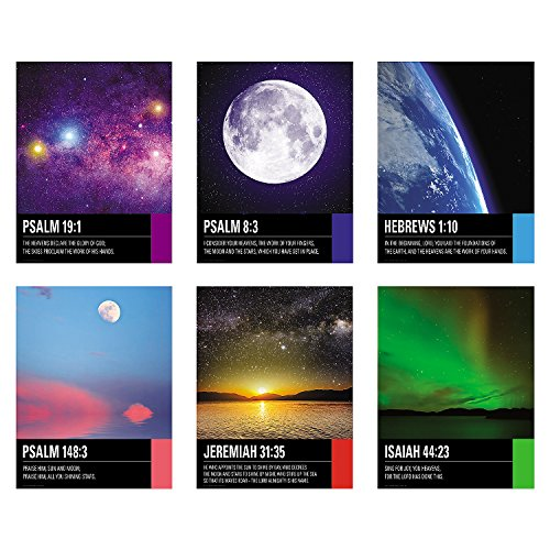 Fun Express Huge - The Stars Praise His Name Religious Poster Set (6 - Bible Verse Posters