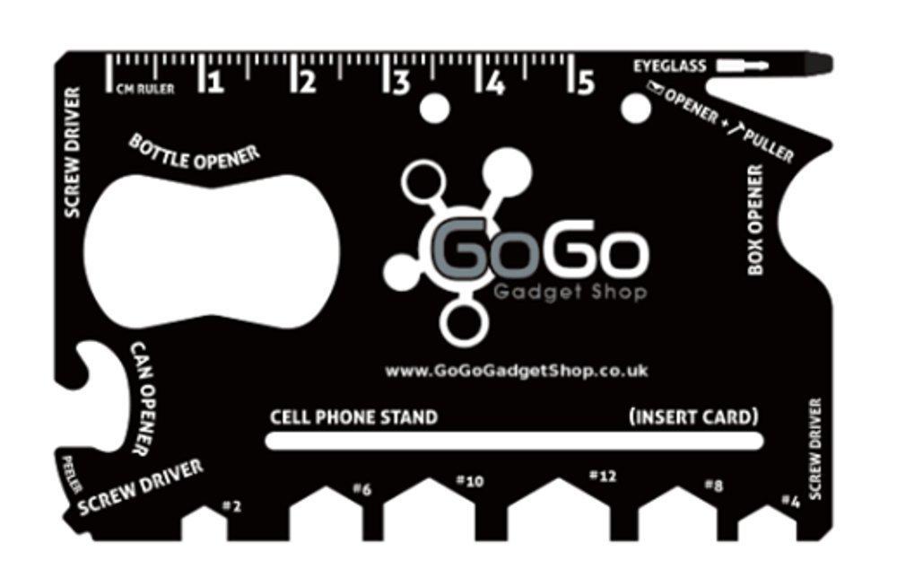 GO GO Gadget Wallet Ninja 18 en 1 Multiusos Tamaño de una ...