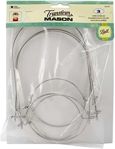 Loew-Cornell Mason Ball Jar Wire Handles (Handle-Ease), 3-Pack