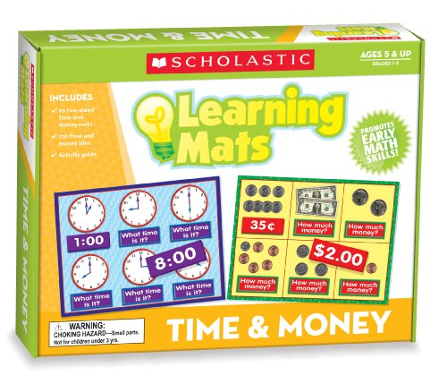 - Scholastic Teacher's Friend Time & Money Learning Mats, Multiple Colors (TF7116)