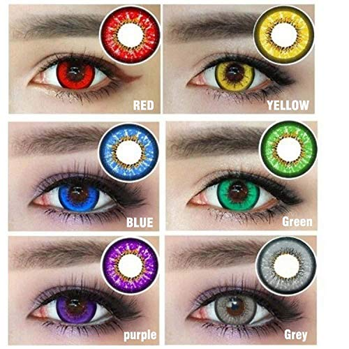 Oanono Multi-Color Cute Contact Lenses Color Blends Cosplay Eyes Cosmetic Makeup Eye Shadow With a Case (A Pair) -
