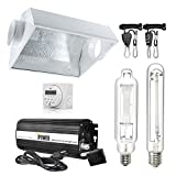 iPower 600 Watt HPS MH Digital Dimmable Grow Light System Kits Air Cooled Reflector Hood Set