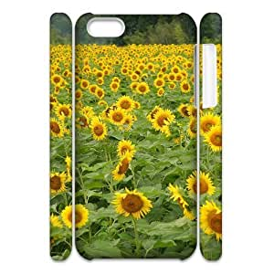 Cell phone 3D Bumper Plastic Case Of Sunflower For iPhone 5C