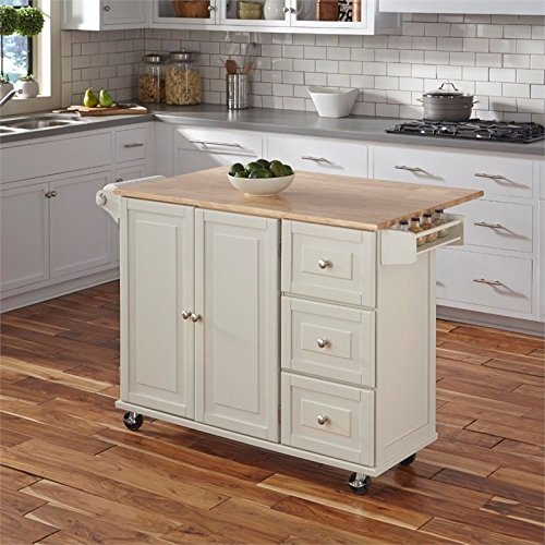 Hawthorne Collections Wood Top Kitchen Cart