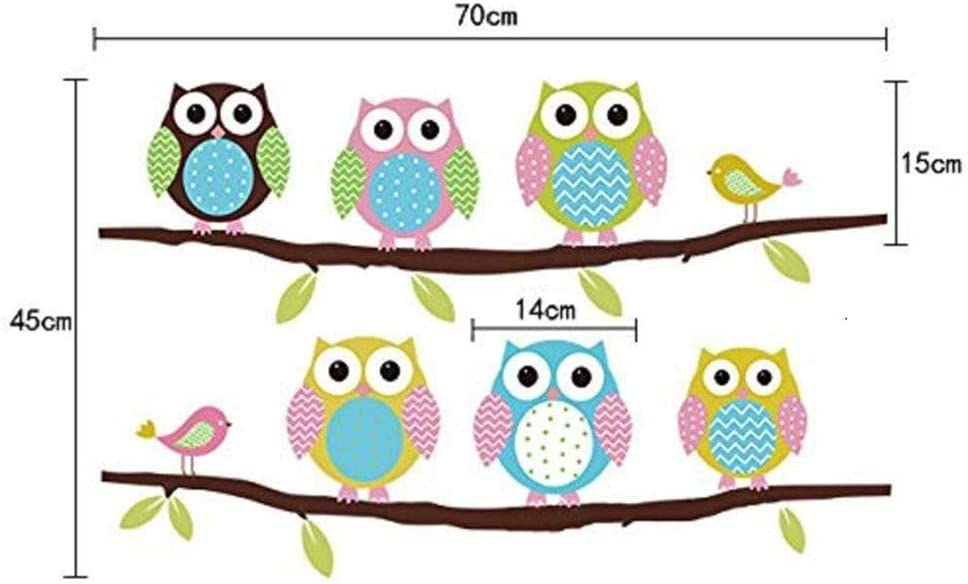 Wall Stickers of Tree Owls Wall Decals for Kids Rooms Nursery Baby Boys Girls Bedroom Owls Stickers Paper Removable Home Living Dinning Room