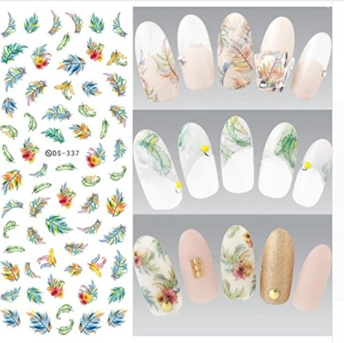 1 Sheet New Year Winter Snowflake Harajuku Nail Art Stickers Water Transfer Nails Wrap Paint Tattoos Stamp Plates Templates Delicate Popular Xmas Christmas Snow Holidays Decals Kit, Type-17 -
