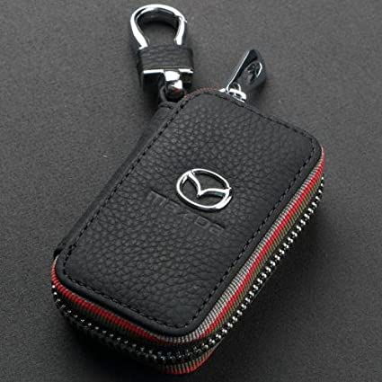 Brown Trust Premium Leather Car Key Chain Coin Holder Zipper Case Remote Wallet Bag for All Mercedes-Benz car Key