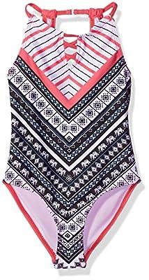 Jantzen Girls' Little Desert Darling Elephant Print Swimsuit