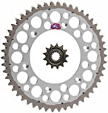 Renthal Grooved Front & Twinring Rear Sprocket Kit - 14/48 SILVER - Kawasaki KLX300R 2003-2007, KX250 1999-2007