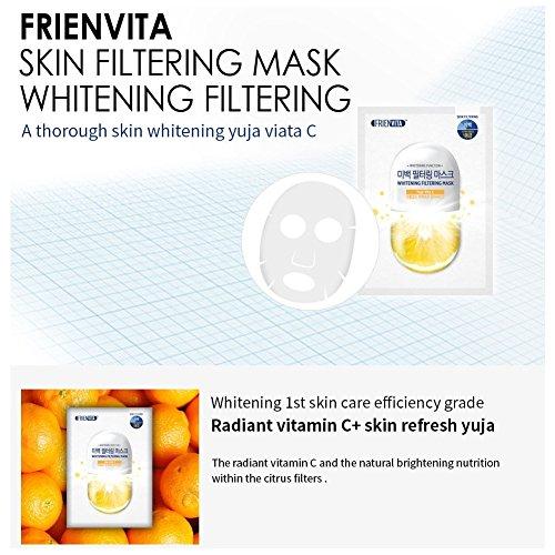 FRIENVITA hoja de mascarilla (9 tratamientos), vitaminas 24k de oro perfecto equilibrio máscara 3 y vitaminas vitales máscara de filtrado de la piel: ...