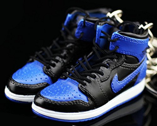 Mj Slam Dunk - Air jordan I 1 Retro High OG Royal Blue/Black Sneakers Shoes 3D Keychain