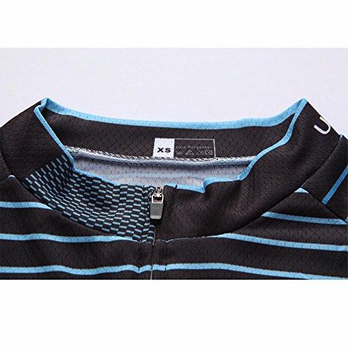 Rápido De otoño Top Full Back Secado Ligera Para 45 Hombre Larga Manga Zipper Uglyfrog Color Camiseta Con Pockets 7zq5wAn8