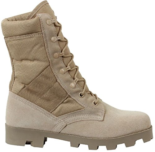 Jungle Boots Desert Tan Leather Speedlace Panama Sole Jungle Boots