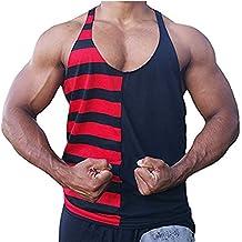 Mens Stringer Bodybuilding Fitness Muscle Workout Gym Tank Top Singlet