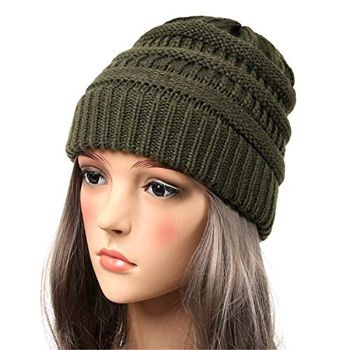 New Seal Beanies Winter Hats for Women Knitted Hat with Tag Warm Baggy Stretch Knit Chunky Cable Beanie S