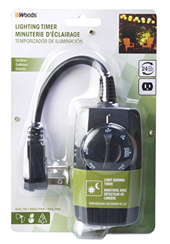 Woods 2001 Outdoor Outlet Timer With Photocell Light Sensor Import It All