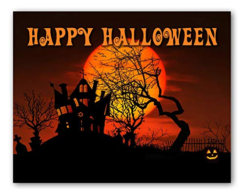 Halloween Greetings For Grandchildren (Happy Halloween Greeting Cards with Envelopes - Blank on the Inside - Includes 12 Cards and Envelopes - 5.5