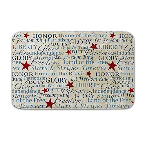 (DKISEE Indoor Outdoor Entrance Rug Floor Mat Bathmat Stonehenge Stars & Stripes Doormat, 15.7