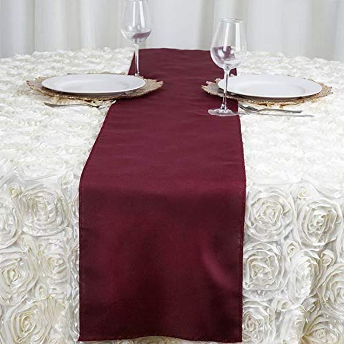 Mikash 5 Pack Polyester Table Runner Wedding Party Banquet Decoration 20+ Colors! | Model WDDNGDCRTN - 20252 ()