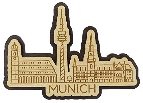 Printtoo Munich City Of Germany Engraved Fridge Wooden Souvenir Custom Fridge Magnet -
