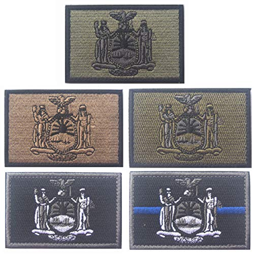 Embroidery Tactical USA New York State Flag Patches