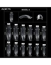 KADS 120PCS Clear Full Cover Dual Nail System Form UV Gel Acrylic Nail Art Mold Artificial Nail Tips with Scale for Extension