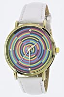 Trendy Fashion Jewelry Abstract Ripple Design Crystal Watch By Fashion Destination