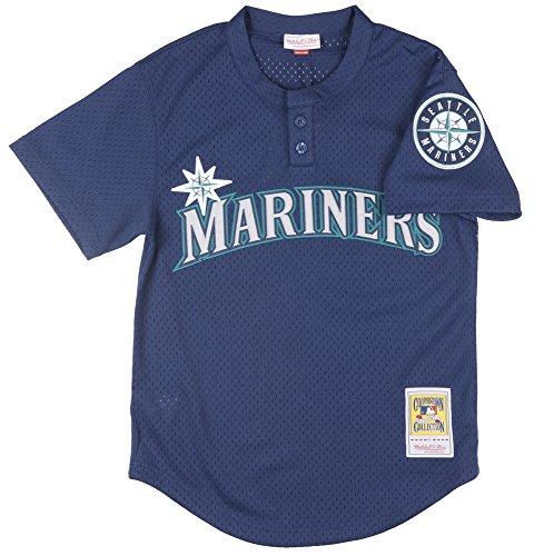 Ness Mlb Baseball Jersey - Randy Johnson Seattle Mariners Mitchell & Ness MLB Authentic 1995 BP Jersey