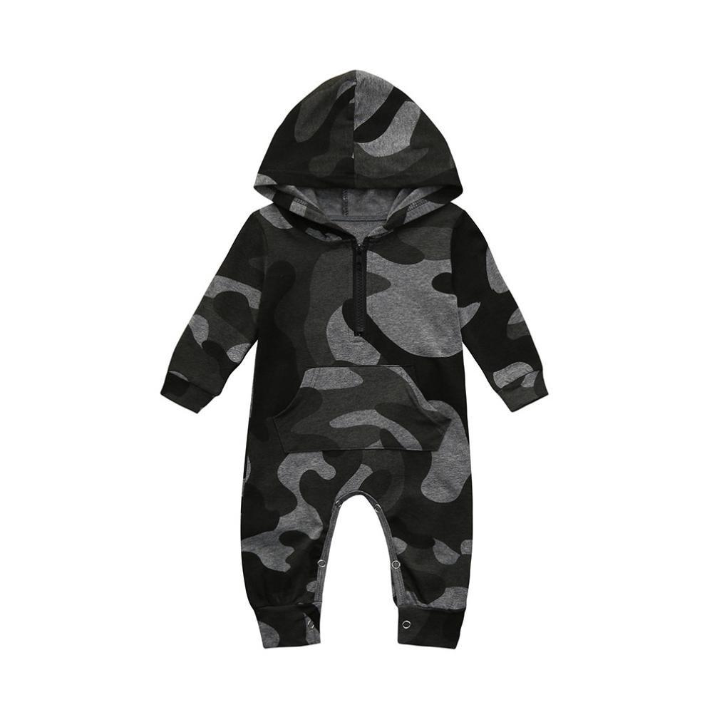 UOMOGO® Bambino Pagliaccetti con Cappuccio Bimba Tutina Hooded Body Manica Lunga Cotone Outfits 0-24 Mesi