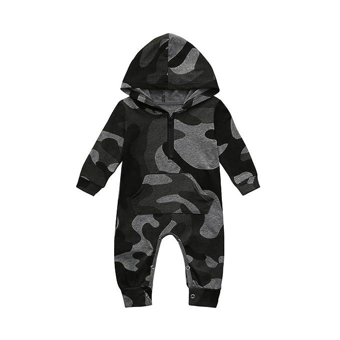 UOMOGO® Bambino Pagliaccetti con Cappuccio Bimba Tutina Hooded Body Manica  Lunga Cotone Outfits 0-24 Mesi  Amazon.it  Abbigliamento f16a7708a7a