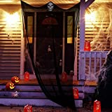 Halloween Props, Halloween Ghost Decorations Black Creepy Cloth Hanging Scary Ghost Prop Halloween Hanging Decorations Flying Ghost Haunted Houses Party Doorways Outdoors Indoor Yard Bar