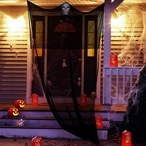 Halloween Props, Halloween Ghost Decorations Black Creepy Cloth Hanging Scary Ghost Prop Halloween Hanging Decorations Flying Ghost Haunted Houses Party Doorways Outdoors Indoor Yard Bar