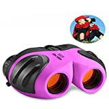 TOP Gift Toys for 3-12 Year Old Girls, Compact Binocular for Kids Gifts for Teen Girl Purple TG006
