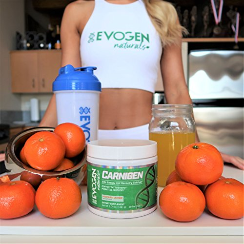 Evogen Carnigen Naturals | Carnitine Fat Burning Powder | 90 Servings | Mandarin Orange