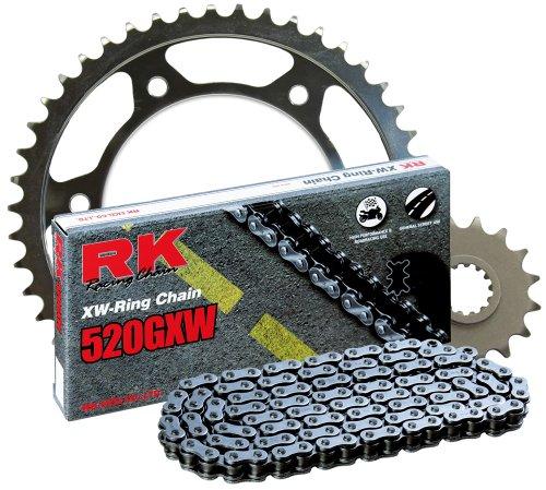 Steel Sprocket Kit - RK Racing Chain 2108-069S Steel Rear Sprocket and 520GXW Chain 520 Steel Conversion Kit