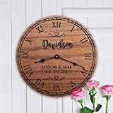 Personalized Solid Oak Clock Wedding Gift – Our Dance by Story Cabin For Sale