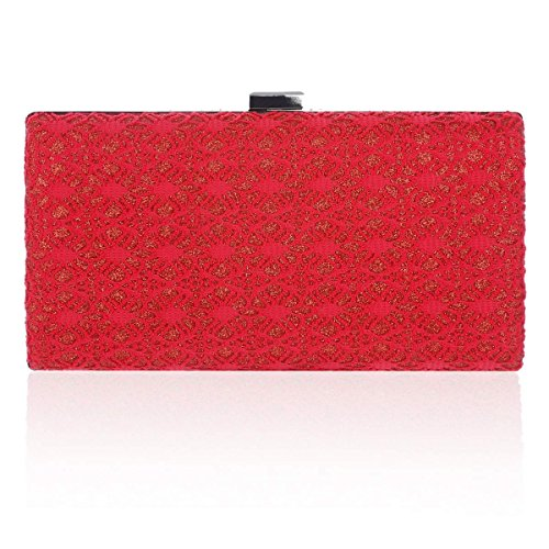 Damara Evening Elegant Womens Bag Box Medium Red Stylish 88vRrq