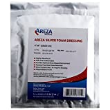 Silver Foam Dressing Sterile 4''x4'' Waterproof 25 Dressings (Healthcare Provider Package)