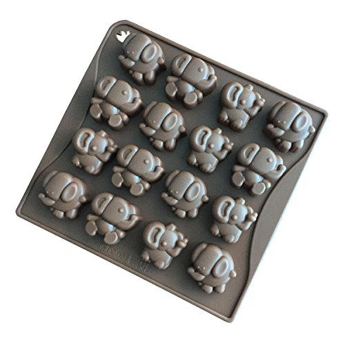 Baby Shower Shaped Candy - Always Your Chef 16-Cavity Candy Molds Chocolate Molds Small Elephant Shaped, Random Colors