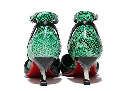 Beauqueen Pumps Sommer Frauen Spitz-Zehen-Knöchelriemen Low Heel Vintage Feminine Schwarz Casual Work Schuhe Europa Standard Größe 34-39