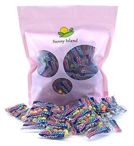 (Sunny Island Bulk- Sweetarts Mini Chewy Snack Packs Candy Pouches - 2 Pounds Bag, 50 Count)