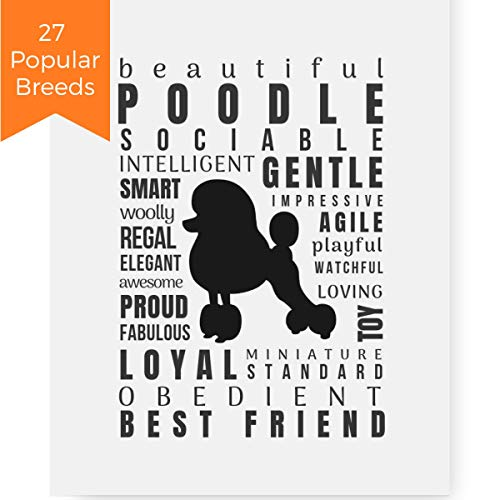 (Pawsome Designs Poodle Gifts Quote Art Print Wall Decor (8x10 Unframed) for Dog Lover)