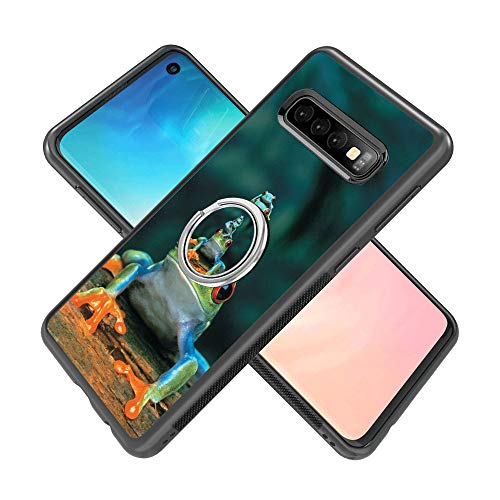 Samsung Galaxy S10 case Frog Piles Full Body Case with Holder Ring Cover Protector Heavy Duty Protection case Shockproof case for Samsung Galaxy S10