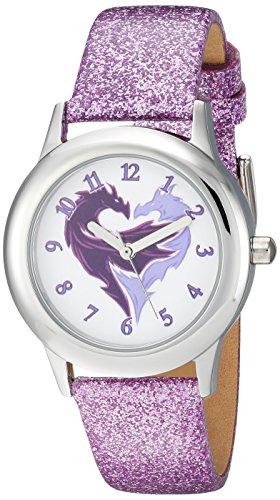 Disney Girl's 'Descendants' Quartz Stainless Steel Casual Watch, Color:Purple (Model: WDS000368)