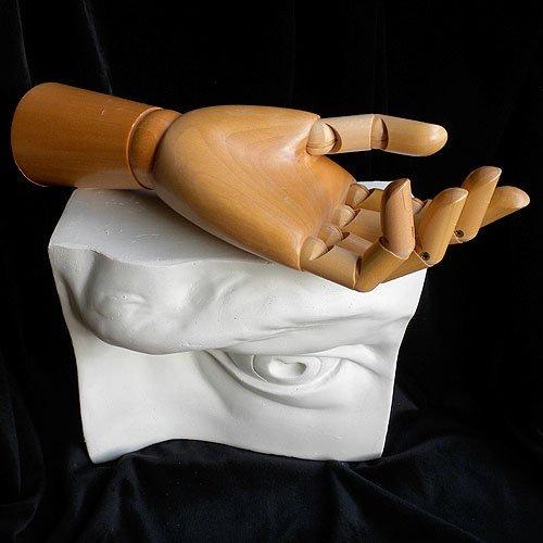 Jack Richeson Signature Hand Manikin - 12 Inch Wooden Male LEFT Hand