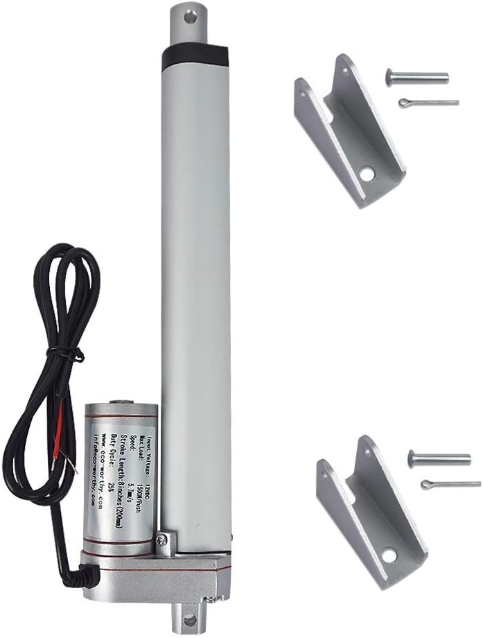 "12V 2/""-40/"" Inch Stroke Linear Actuator 330lbs Maximum Lift w Mounting Brackets"